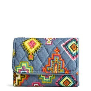 VB RFID Riley Compact Wallet in Painted Medallions